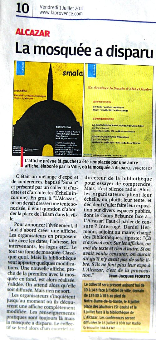 Article du journal La Provence